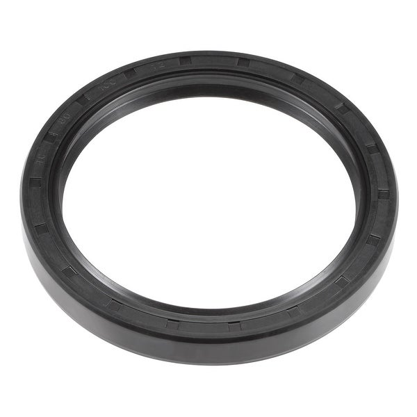 Oil Seal, TC 80mm x 100mm x 12mm, Nitrile Rubber Cover Double Lip - 80mmx100mmx12mm