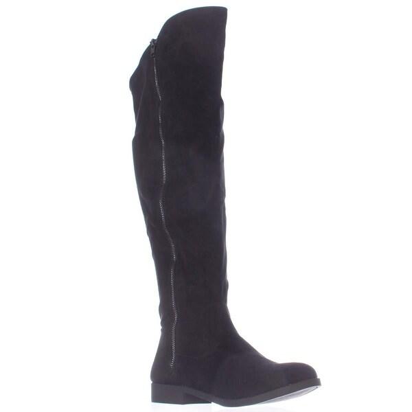 SC35 Hadleyy Wide Calf Knee High Boots, Black