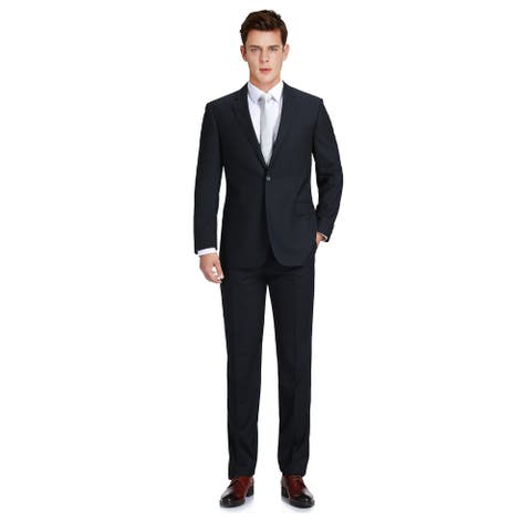 Men's 2-Piece Classic Fit Wool-Cashmere & Silk Suit