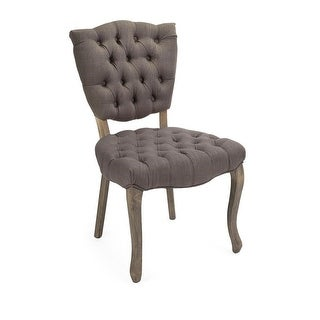 """35.25"""" Soft Grey Linen Accent Arm Chair with Birch Wood Legs"""