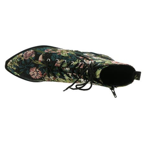 Indigo Rd. Womens Yarine Fabric Almond Toe Ankle Fashion Boots