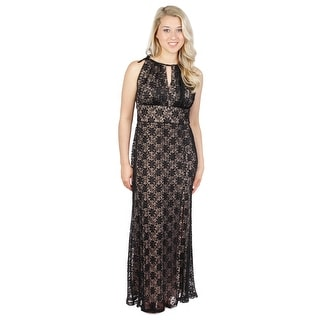 Lace Mettalic Gown