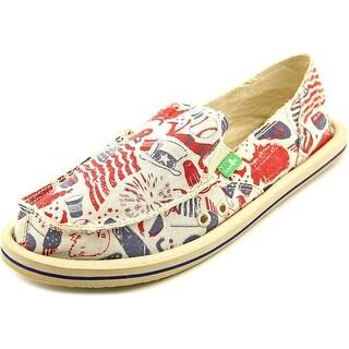 Sanuk Donna Patriot Moc Toe Canvas Loafer