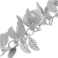 Antiqued Silver Plated 7mm Leaf Charm Chain - Bulk By The Inch