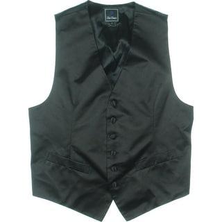 David Donahue Mens Silk Solid Suit Vest - S
