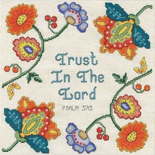 """Trust Counted Cross Stitch Kit-10""""X10"""" 14 Count"""