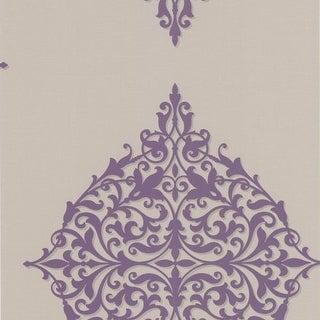 Brewster DL30622 Pastiche Purple Classical Motif Wallpaper