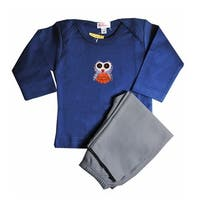Loralin Design BNO12 Owl Outfit - Blue  12-18 Months