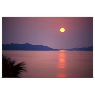 """Sunrise over sea"" Poster Print"