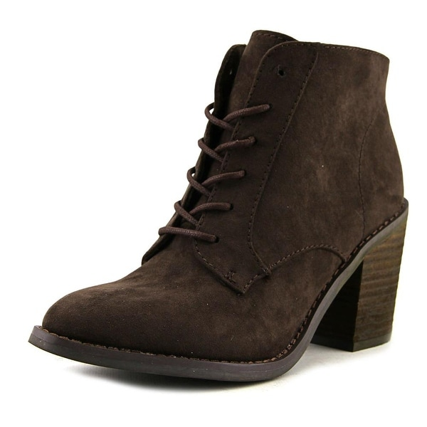 Rocket Dog Dessa Women Round Toe Synthetic Brown Bootie