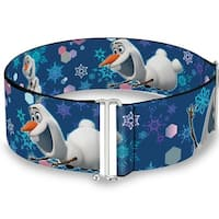 Frozen Olaf Poses Snowflakes Blues Cinch Waist Belt   ONE SIZE
