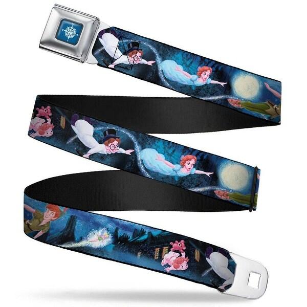 Peter Pan Compass Full Color Blue Fade White Peter Pan Group Flying Scene Seatbelt Belt