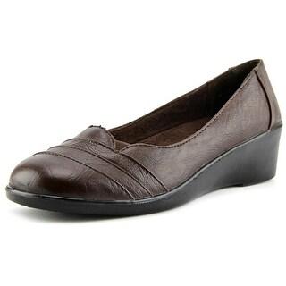Easy Street Marsh Women N/S Open Toe Synthetic Brown Wedge Heel