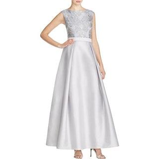 Aidan Mattox Womens Formal Dress Embroidered Lace