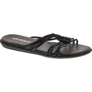 Aerosoles Women's Health Chlub Slide Sandal - black combo