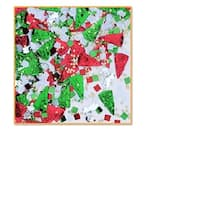 Pack of 6 Red, Green and Silver Pizza Party Celebration Confetti Bags 0.5 oz. - Red