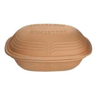 Romertopf by Reston Lloyd Modern Series Natural Glazed Clay Cooker, 4.1-Quart, Large