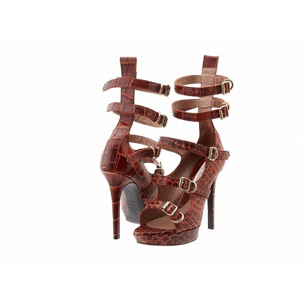 Vivienne Westwood NEW Brown Womens Shoes Size 6.5M Leather Sandal