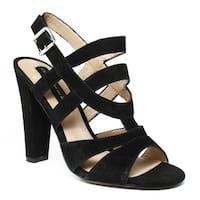 Steve Madden Womens Black Open Toe Heels Size 7
