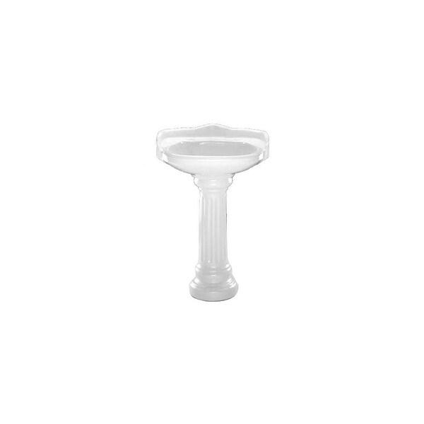 "PROFLO PF1121P 22-1/2"" 3 Hole Centerset Lavatory Pedestal Sink Only - White"