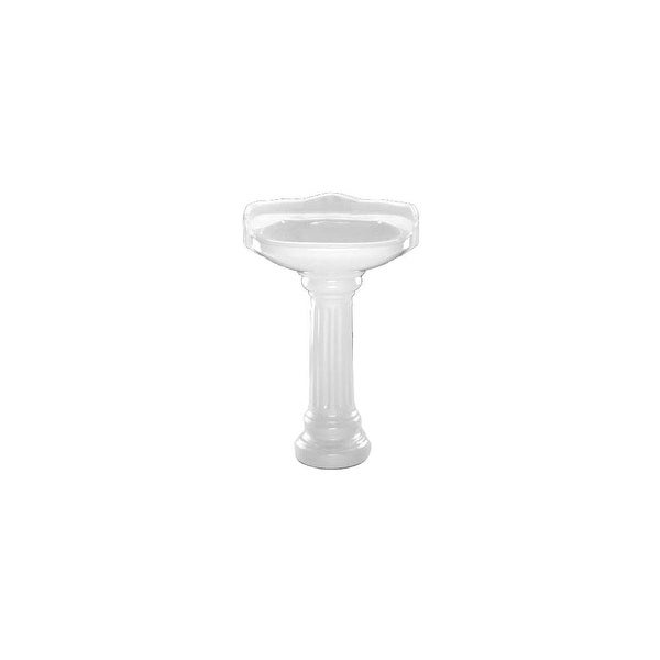 PROFLO PF1021 Bathroom Sink Pedestal Only For PF1121   White