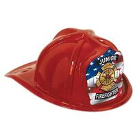 Club Pack of 48 Red Junior Firefighter Hat Costume Accessories