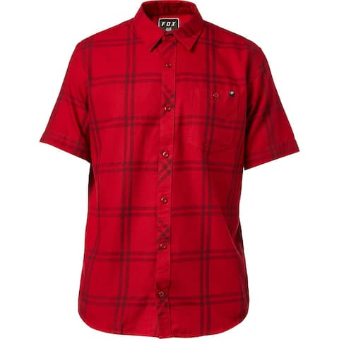 Fox Men's Brake Check Woven Shirt (Red, XL) - Red.