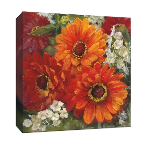 """PTM Images 9-153333 PTM Canvas Collection 12"""" x 12"""" - """"Summer Gerberas II"""" Giclee Flowers Art Print on Canvas"""