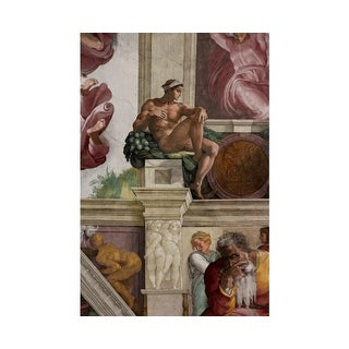 Easy Art Prints Michelangelo's 'Ignudo, Sistine Chapel' Premium Canvas Art