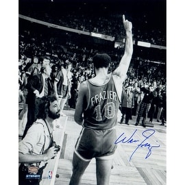 Walt Frazier Signed 16x20 Photo Walking Off the Court Pointing Up