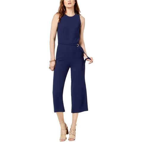 Michael Kors Womens Cropped Jumpsuit, blue, 16