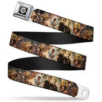 Winchester Logo Full Color Black White Supernatural 4 Character Saintly Seatbelt Belt