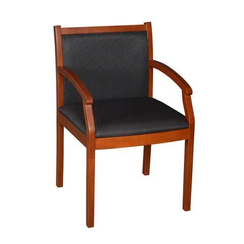 Render Side Chair- Cherry/ Black