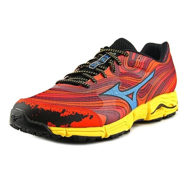 Mizuno Wave Kazan Men Red/Blue/Yellow Running Shoes