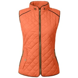 NE PEOPLE Womens Lightweight Quilted Zip Vest [NEWV60] (More options available)