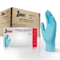 1st Choice Blue Nitrile Ind Latex Free Disposable Gloves 1000 Count