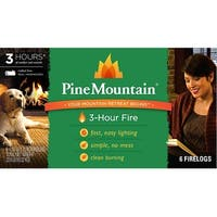 Pine Mountain 41525-01301 Traditional 3-Hour Firelogs, 6-Pack