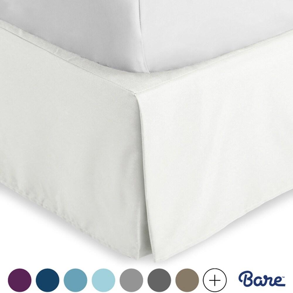 Wamsutta Baratta Stitch Cotton 15-Inch Drop Twin Bed Skirt in Charcoal