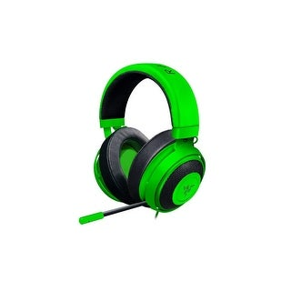 Razer Kraken Pro V2 - Oval Ear Cushions - Analog Gaming Headset for PC Xbox One and Playstation 4-Green Oval Ear Cushions Analog