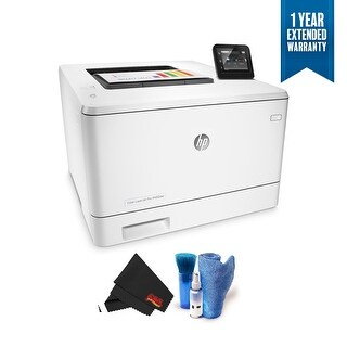 HP Color LaserJet Pro M452dw Wireless Color Laser Printer (CF394A) Bundle with 1 Year Extended Warranty