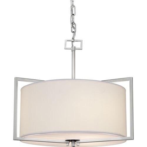 Forte Lighting 2570-03 3 Light Drum Pendant