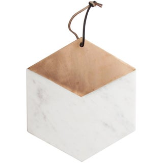 American Atelier Marble & Copper Hexagon Kitchen Cutting Board and Serving Tray