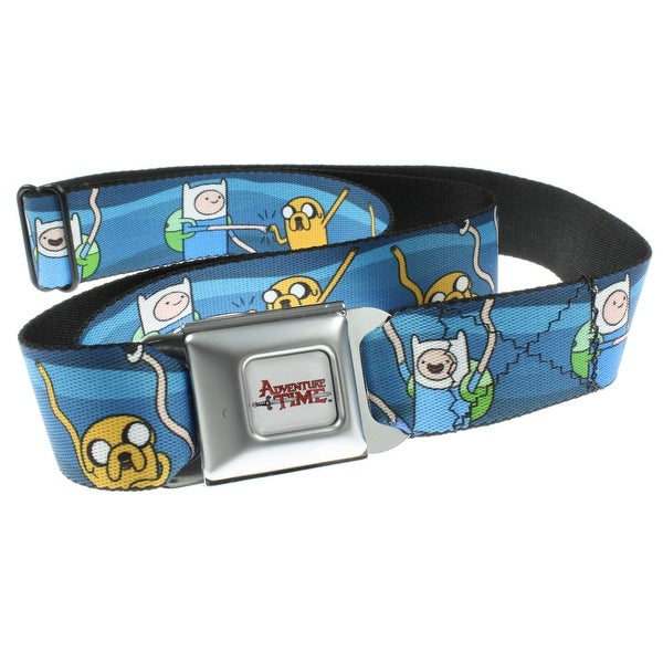 Adventure Time Finn and Jake Fist Bump Seatbelt Belt-Holds Pants Up