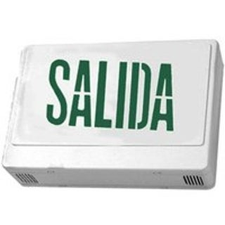 Howard HL0201B2GW-ESP LED Exit Sign in Spanish, White & Green