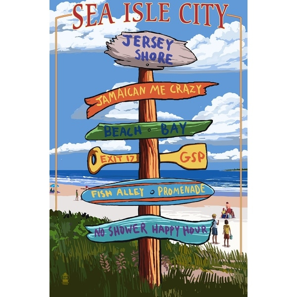 Sea Isle City, NJ - Dest Sign - LP Artwork (Poker Playing Cards Deck)