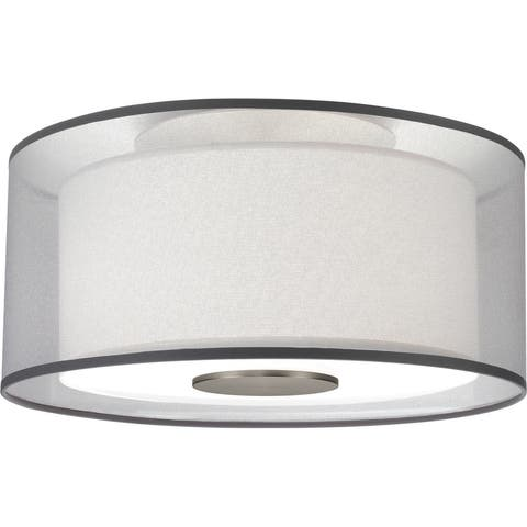 Robert Abbey S2197 Two Light Flushmount Saturnia Stainless Steel - One Size