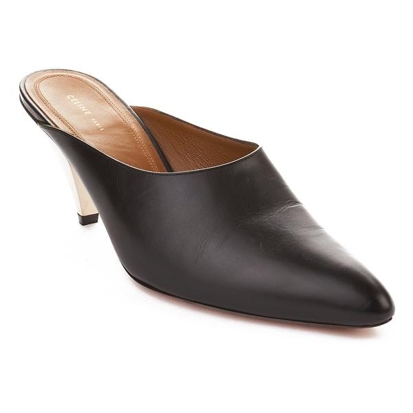 Céline Women's Leather High Heel Pump Shoes Black