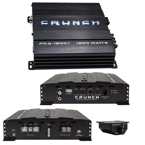 Crunch Mono Amp 1200 Watt 2 Ohm Stable with Bass Remote