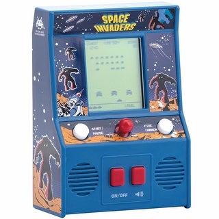Retro Miniature Arcade Video Game - Space Invaders - Blue