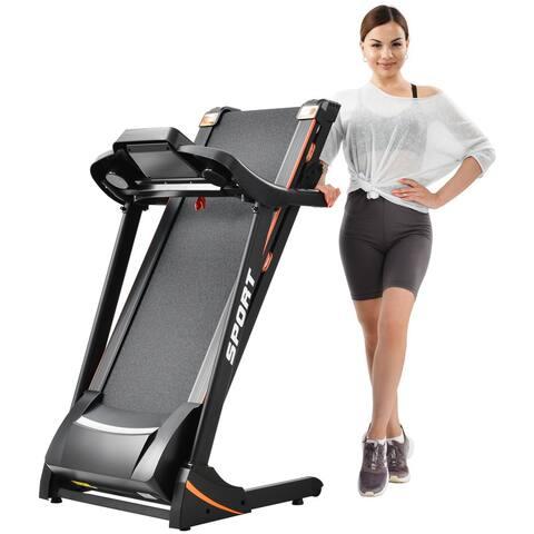Folding Electric 3.5HP Treadmill With Incline Medium Running Machine